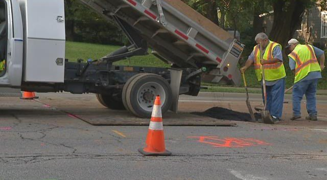 The break happened before 11 p.m. on Tuesday near Johnson Drive and Mackey Street. (KCTV5)