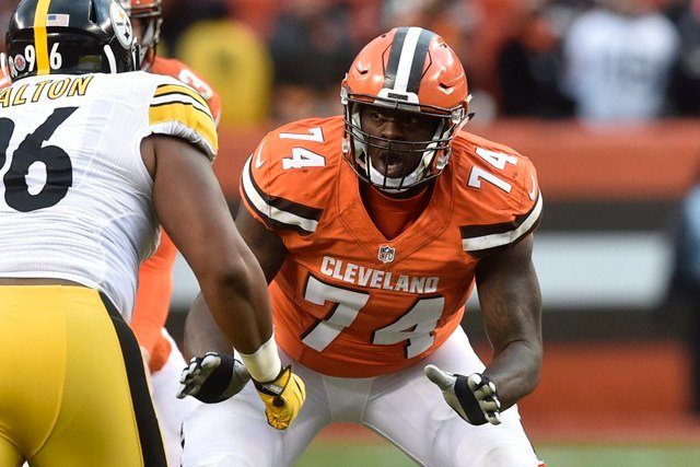 While with the Browns, Erving spent time playing both right and left gaurd, center and right tackle.(Kansas City Chiefs)
