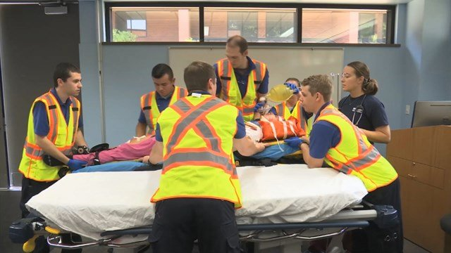 The event is part of the Paramedic Program at Johnson County Community College. (KCTV5)