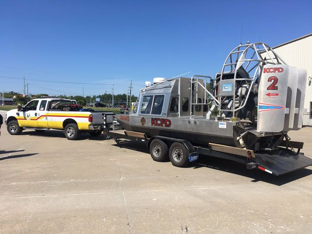Members of the Central Jackson County Fire Protection District were one of several rescue teams out of the Kansas City metro area to be deployed to flood-worn Texas. (Abigael Jaymes/KCTV5)
