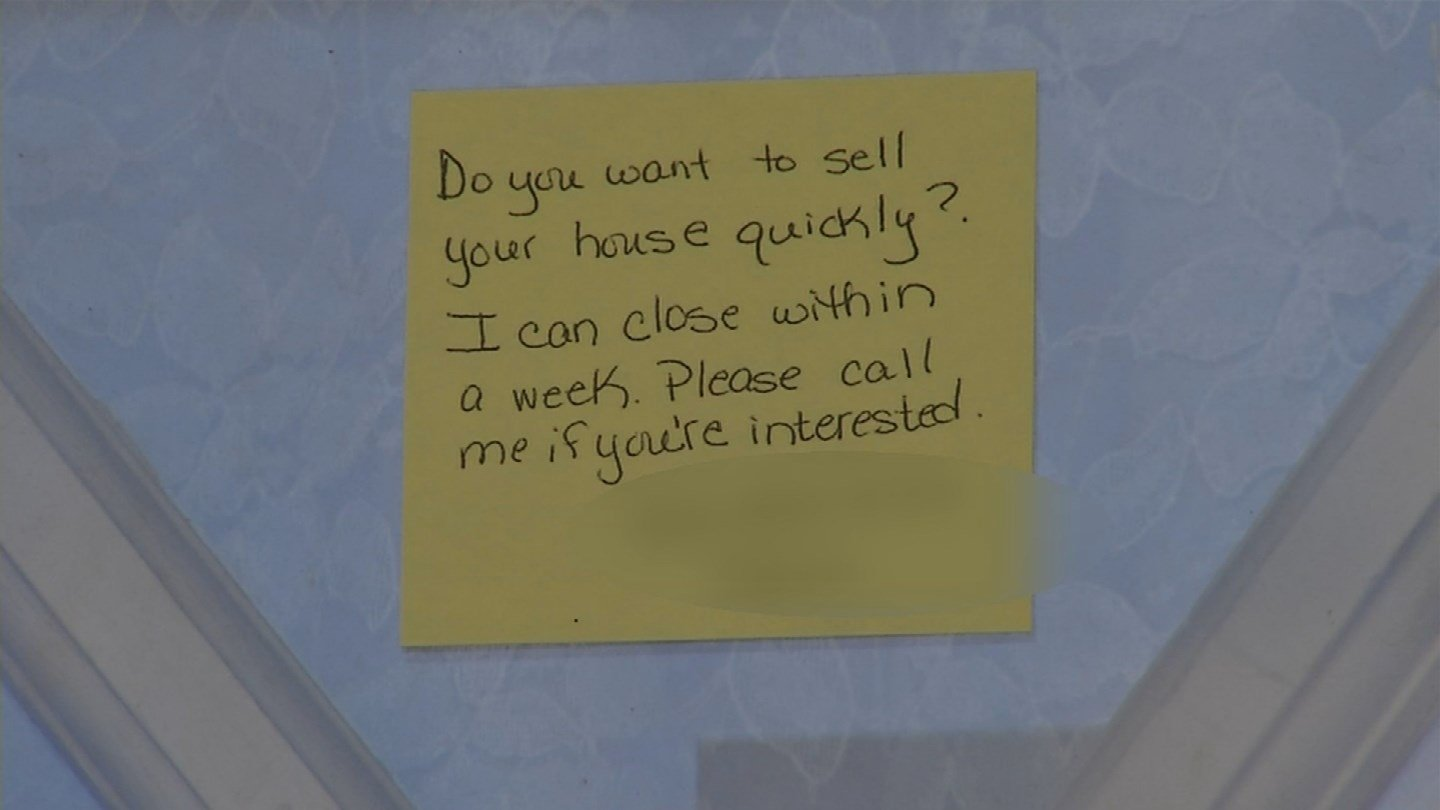 Sticky notes asking homeowners if they want to sell their house fast have been popping up across Raytown. And that has some concerned. (KCTV5)