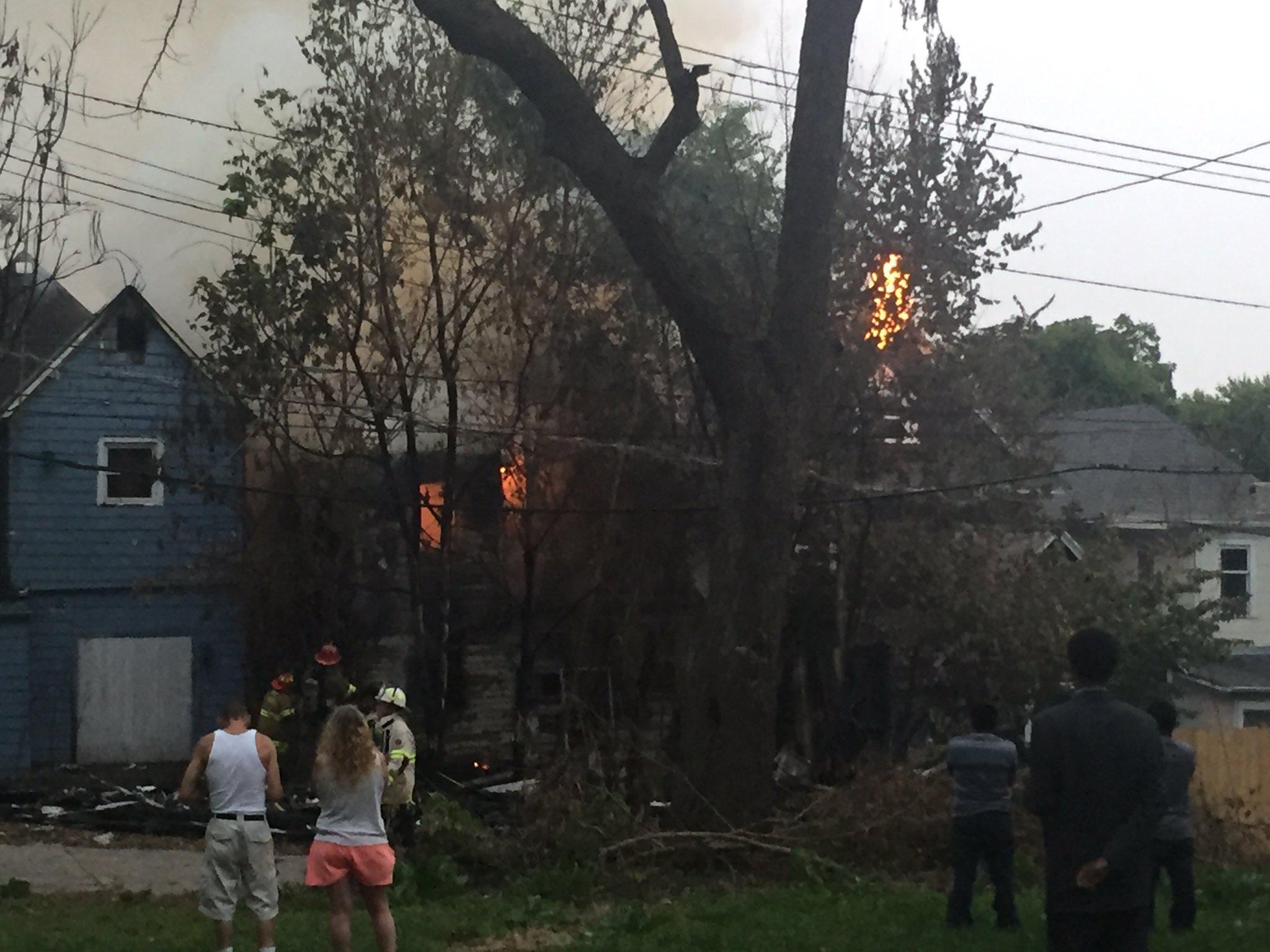 KCK firefighters battle a house fire in the 700 block of Orville. (KCTV5)