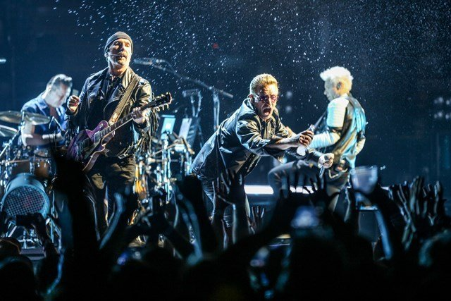 """U2 will stop in Kansas City as part of their 30th-anniversary celebration of""""The Joshua Tree Tour 2017."""" (AP)"""