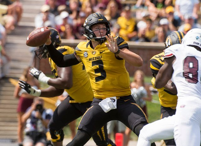 Missouri quarterback Drew Lock made his first collegiate start two years ago as a freshman against South Carolina. (AP)