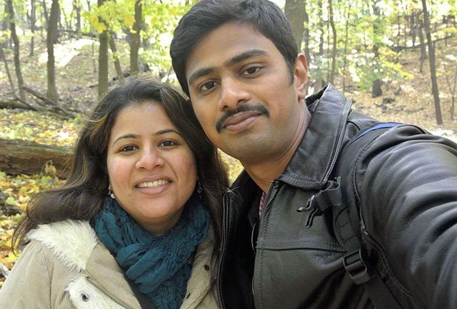 Sunayana Dumala's husband, Srinivas Kuchibhotla, died in a Feb. 22 shooting at Austins Bar & Grill in Olathe. His friend and another man were wounded. (File)