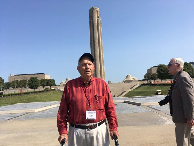 Ceo Bauer was among nearly a dozen other WWII veterans in the division to visit the museum. (Abigael Jaymes?/KCTV5)