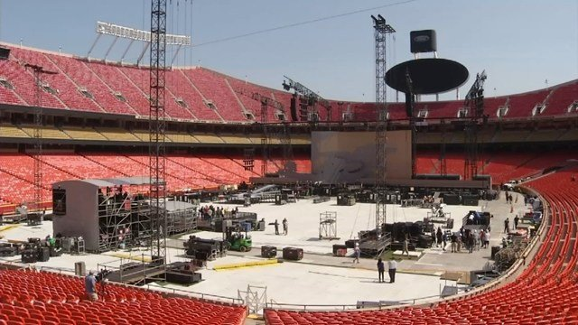 Nearly 50,000 people are expected to attend the concert. (KCTV5)