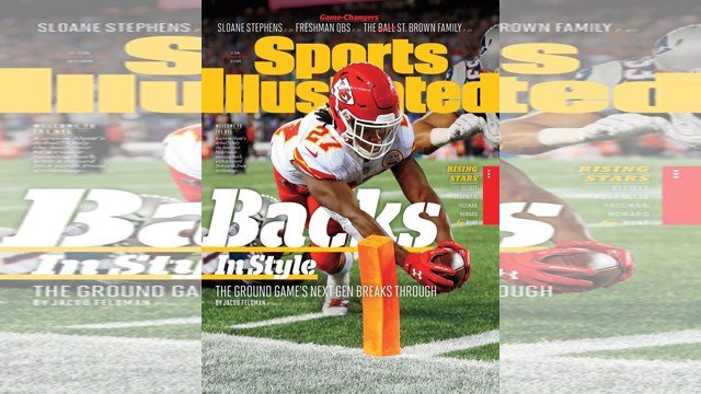"The article, titled ""Backs In Style: The Ground Game's Next Gen Breaks Through,"" highlights rising star running backs across the National Football League. (Sports Illustrated)"