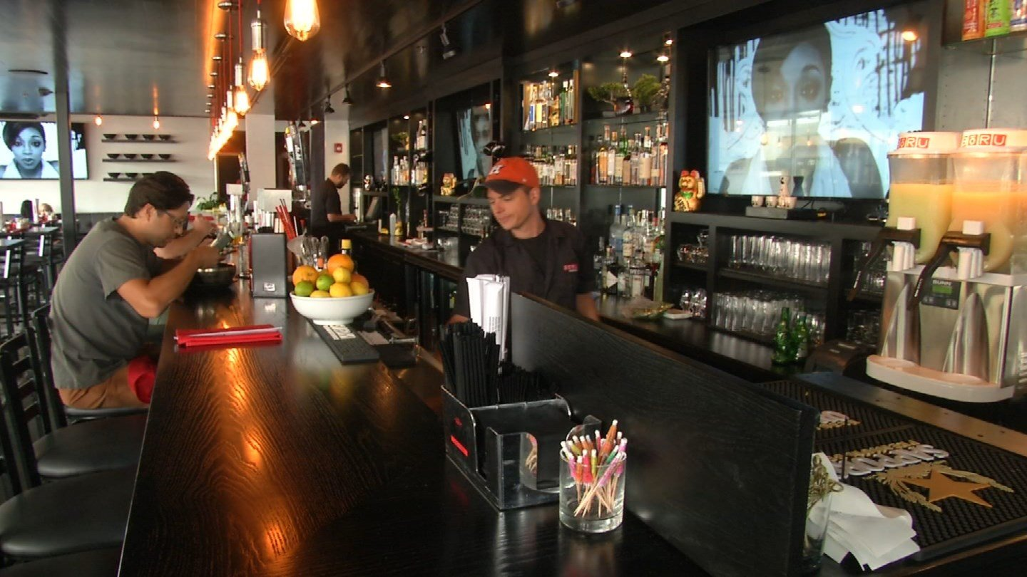 The lead bartender at Boru Ramen Bar in Kansas City is a Houston native, and he wanted to do something to help the victims of Hurricane Harvey. (Natalie Davis/KCTV5)