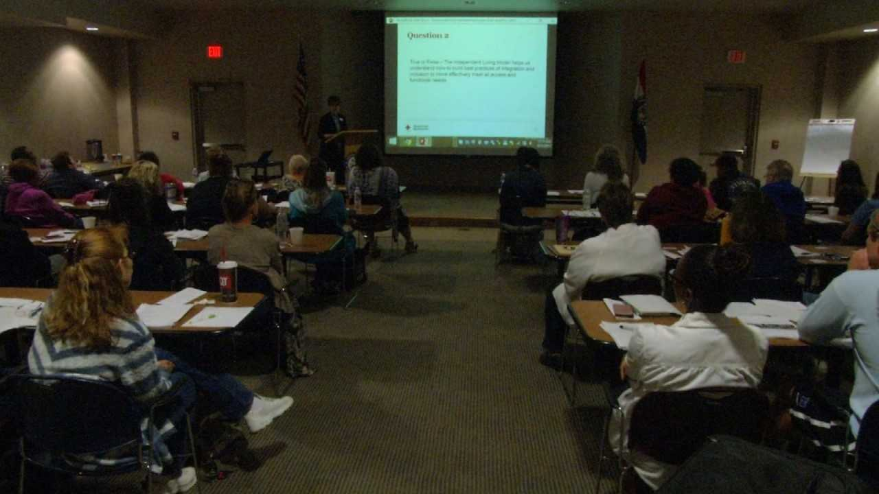 The Red Cross trained in 60 new volunteers Tuesday, hoping to send them to hurricane affected areas as soon as possible. (Natalie Davis/KCTV5)