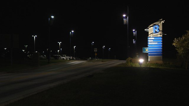 Officers arrived on scene at about 8 p.m. and discovered a deceased victim inside a vehicle parked in economy lot B. (KCTV5)