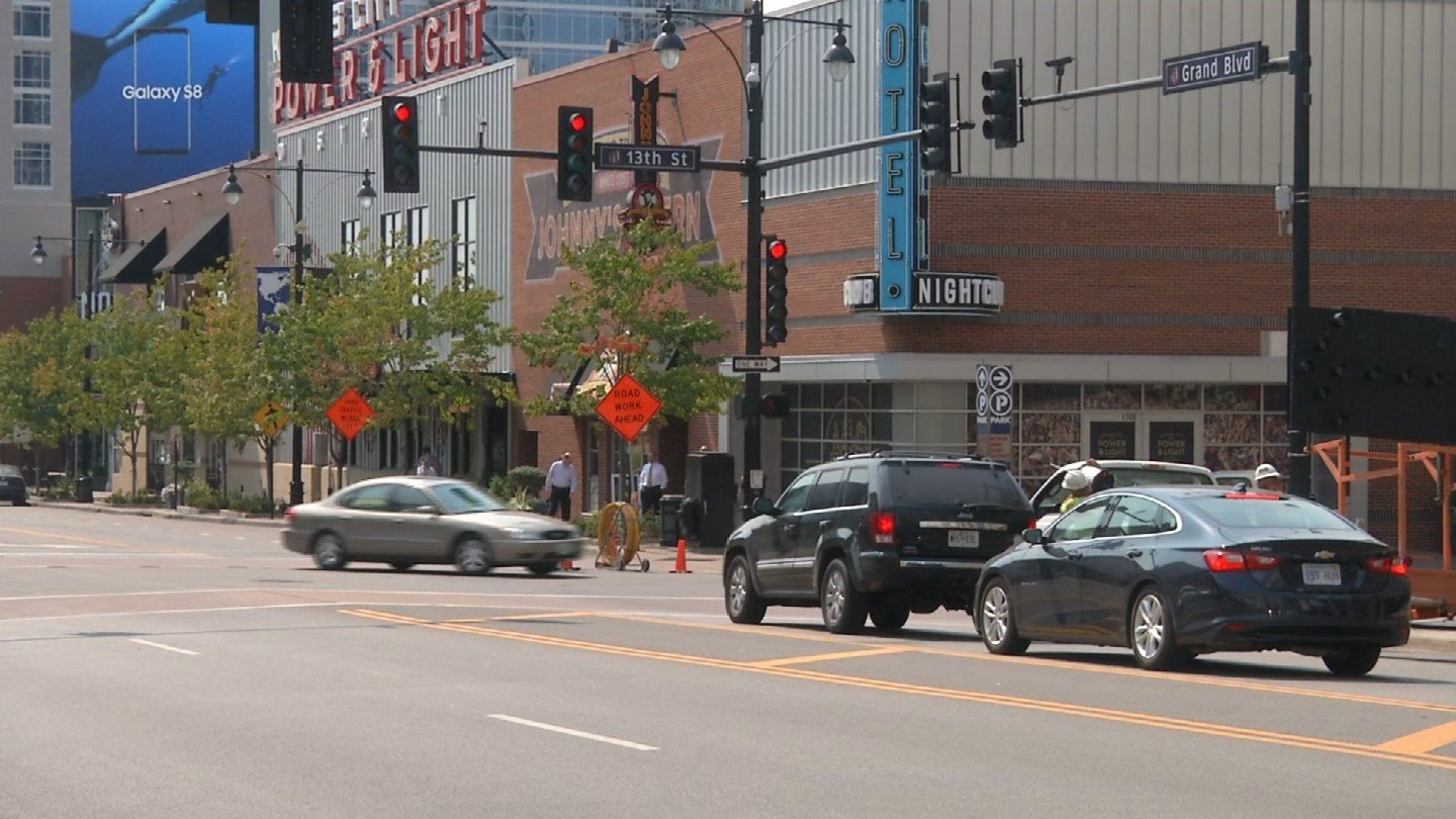 A long-awaited bike lane project starts Wednesday night. The Grand Boulevard portion of the Downtown Loop Bike Project will stretch from 5th Street, south to 20th Street. (KCTV5)