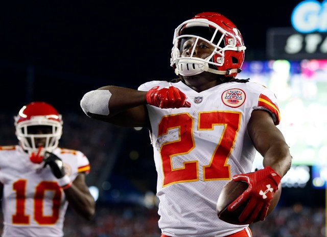Hunt set an NFL record with 246 total yards from scrimmage in his regular-season debut, bettering the mark set by Detroit's Billy Sims in 1980 (217 yards) and equaled by Arizona's Anquan Boldin in 2003. (AP)