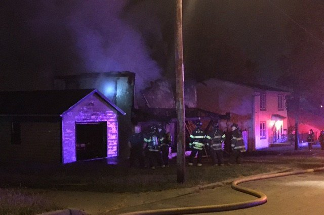 Officials have not said if anyone was inside the home when the fire started. (KCTV5)