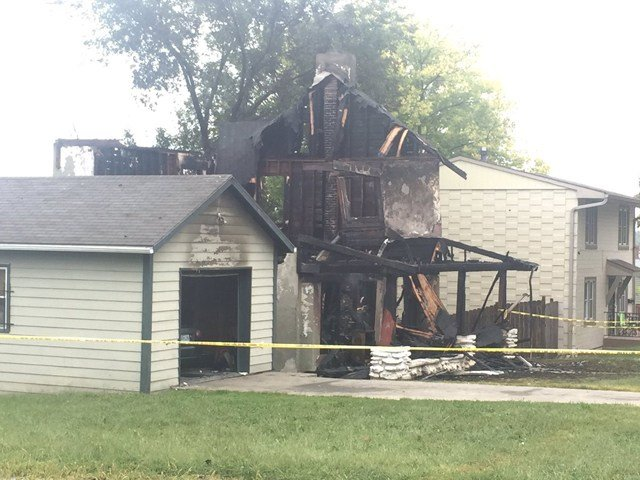 The fire broke out about 3 a.m. at a house near 48th Street and Euclid Avenue. (KCTV5)