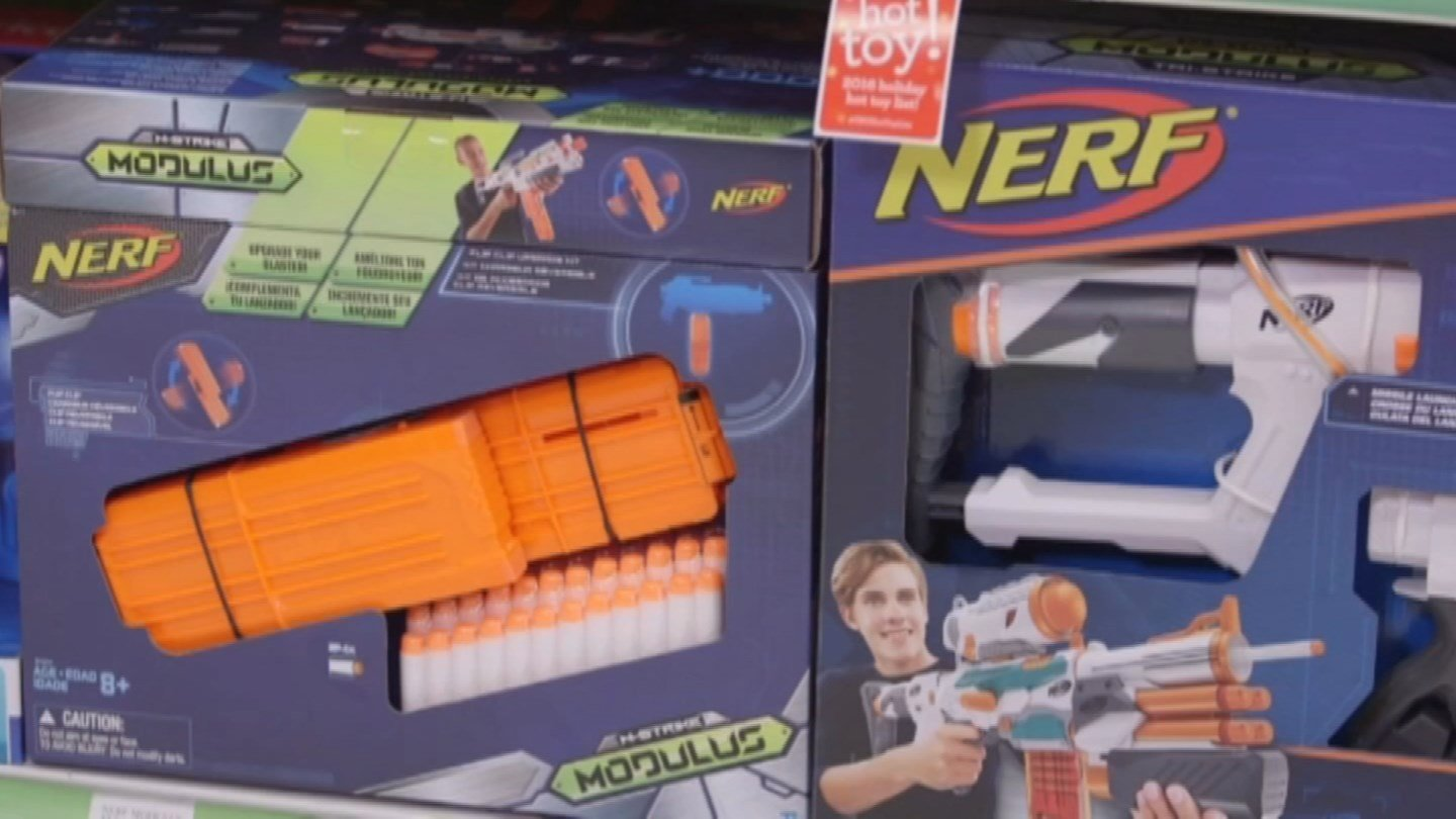 In a report published Monday in the medical journal BMJ Case Reports, doctors warn that popular toy Nerf guns really can put eyes at risk. (CNN)