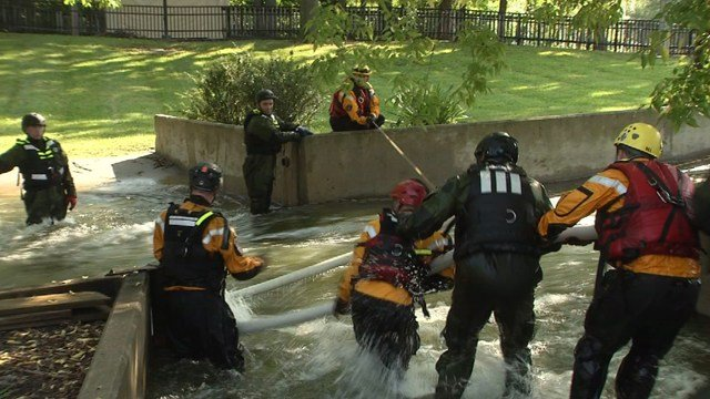 The real-life waters can be navigated safely allowing first-responders to practice new techniques. (KCTV5)