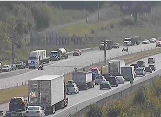 Northbound Interstate-435 is closed at Truman Road due to a fatal accident. (Twitter/MoDOT)