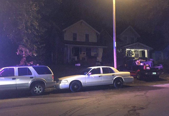 A father, mother and son had to be rescued from the house. (KCTV5)