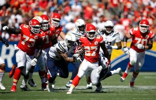 The Chiefs (3-0) beat the Chargers for the seventh straight time and have won 12 straight AFC West games. (AP)