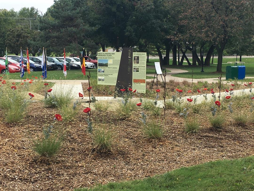 West Flanders Park was dedicated Tuesday with World War II and Shawnee's cultural heritage in mind.(Natalie Davis/KCTV5 News)