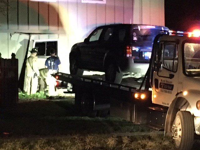 The car did not go all the way through the house but did cause enough damage to cause concern about its structural integrity. (KCTV5)