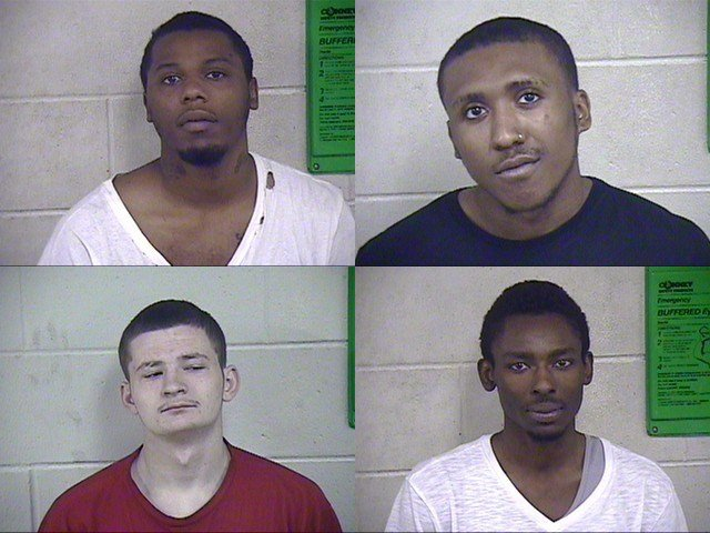 Stephen Curtner, Rodney Rodgers, Tyrone Willard and Osiris Sneed were charged with class D felony assault. The charge was upgraded from a class E felony due to the status of the victim. (JCDC)