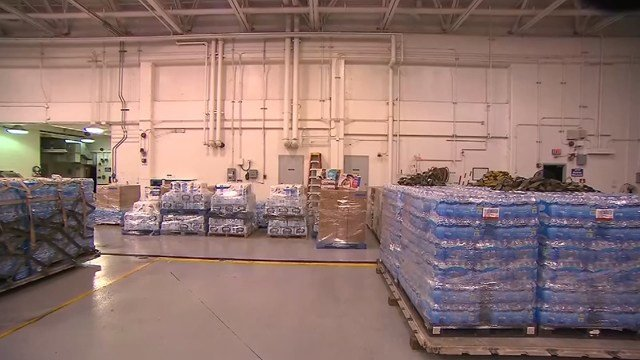 The shipment total 40 pallets loaded with 45,000 pounds of supplies. (KCTV5)