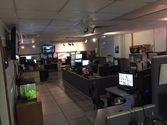 For more than a decade, the Independence Police Department's dispatch call center has been housed in a dark room they've outgrown. (Ashley Arnold/KCTV5 News)