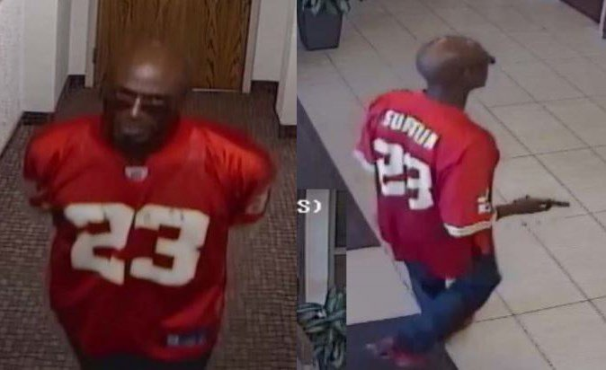 Pictures of the suspect. (Leawood Police/KCTV)