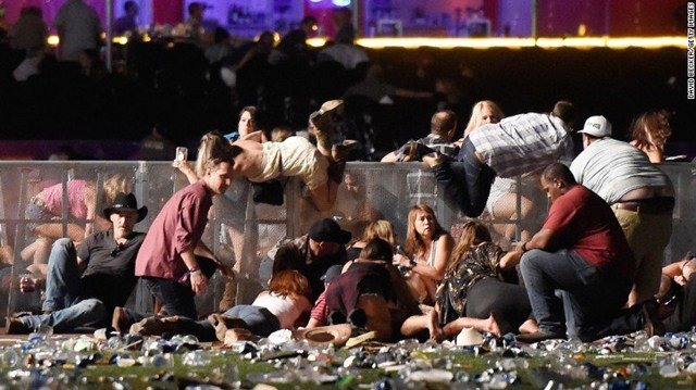 A gunman perched on the 32nd floor of a Las Vegas casino unleashed a hail of bullets on an outdoor country music festival below, killing at least 58 people. (CNN)