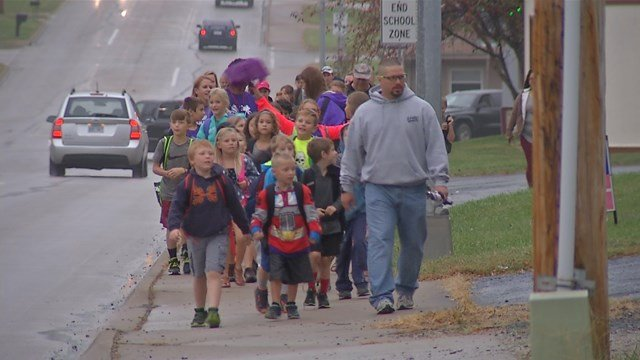The national event happens only once a year, but organizers hope kids enjoyed the walk and will do it again on their own. (KCTV5)