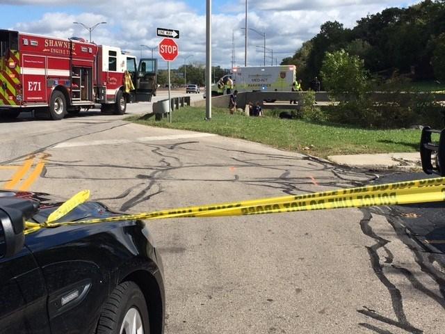 The scene of the crash. (Kim Olivier/KCTV)