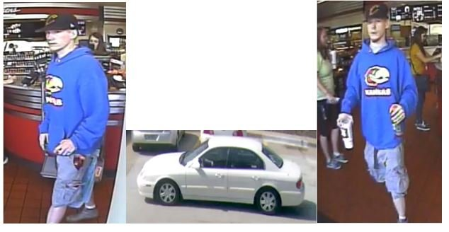 Police say a man stole a credit card from a vehicle in the 10300 block of W. 75th Street.(Overland Park)