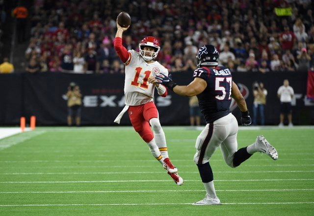 Smith shined on Monday, completing 29 of 37 passes, 78.4-percent, for 324 yards, three touchdowns and a 130.2 passer rating. (AP)