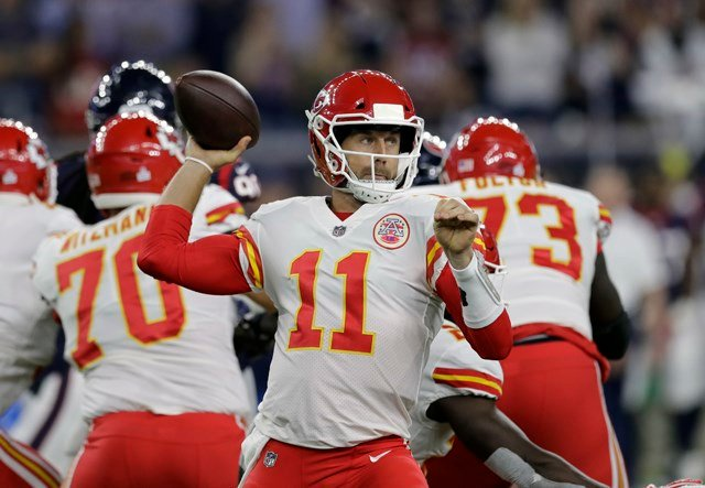 By almost any measure, Chiefs quarterback Alex Smith is having the best season of his career. (AP)
