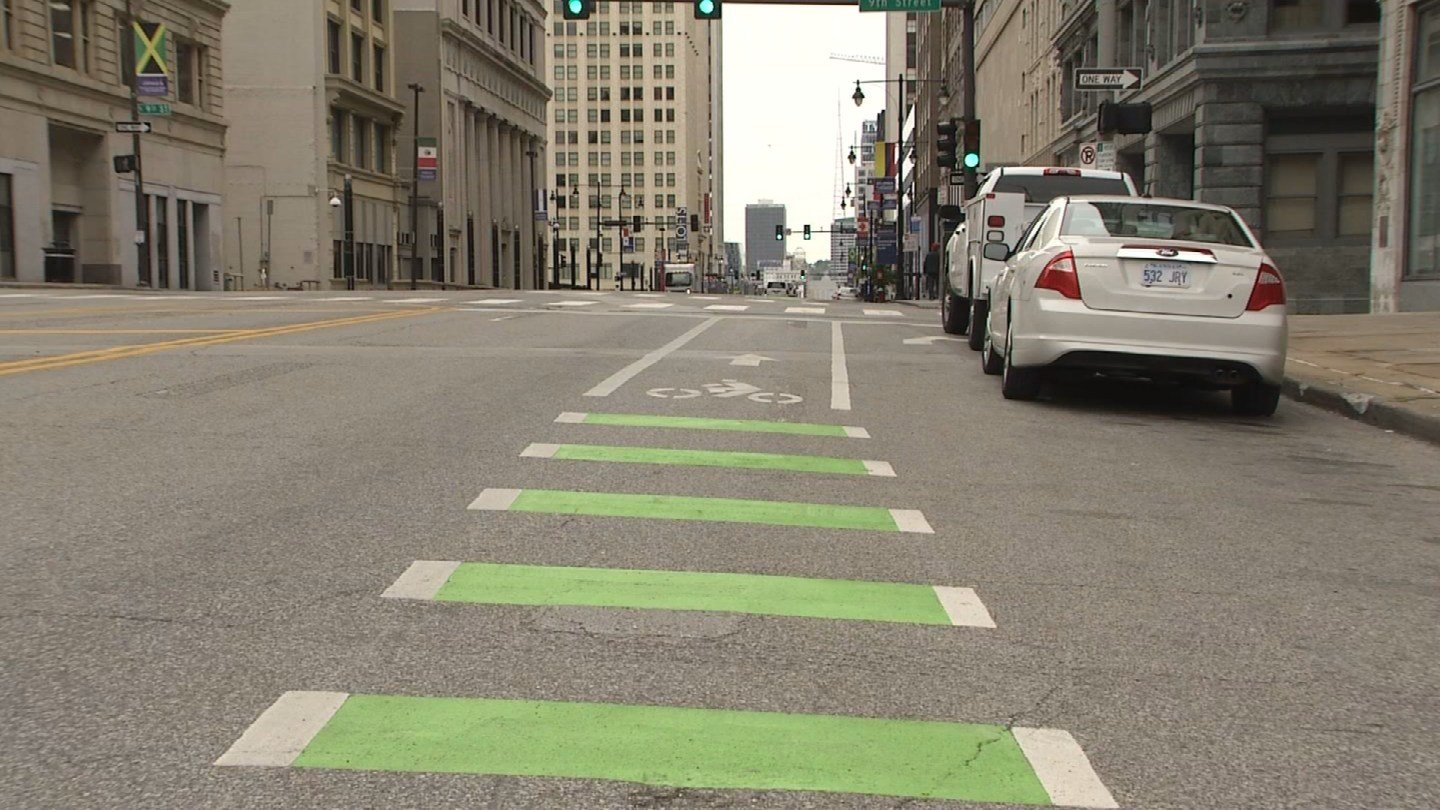 New bike lanes all over Kansas City are now in place. (KCTV5)