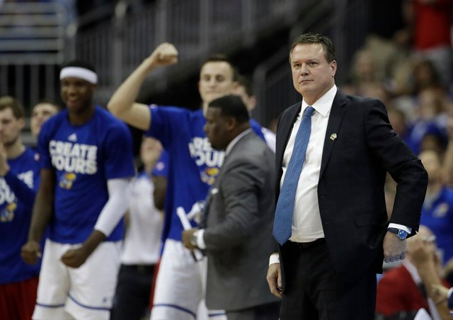 Kansas coach Bill Self, whose school is among those conducting an internal review, said he harbors no illusions about what's at stake. (AP)