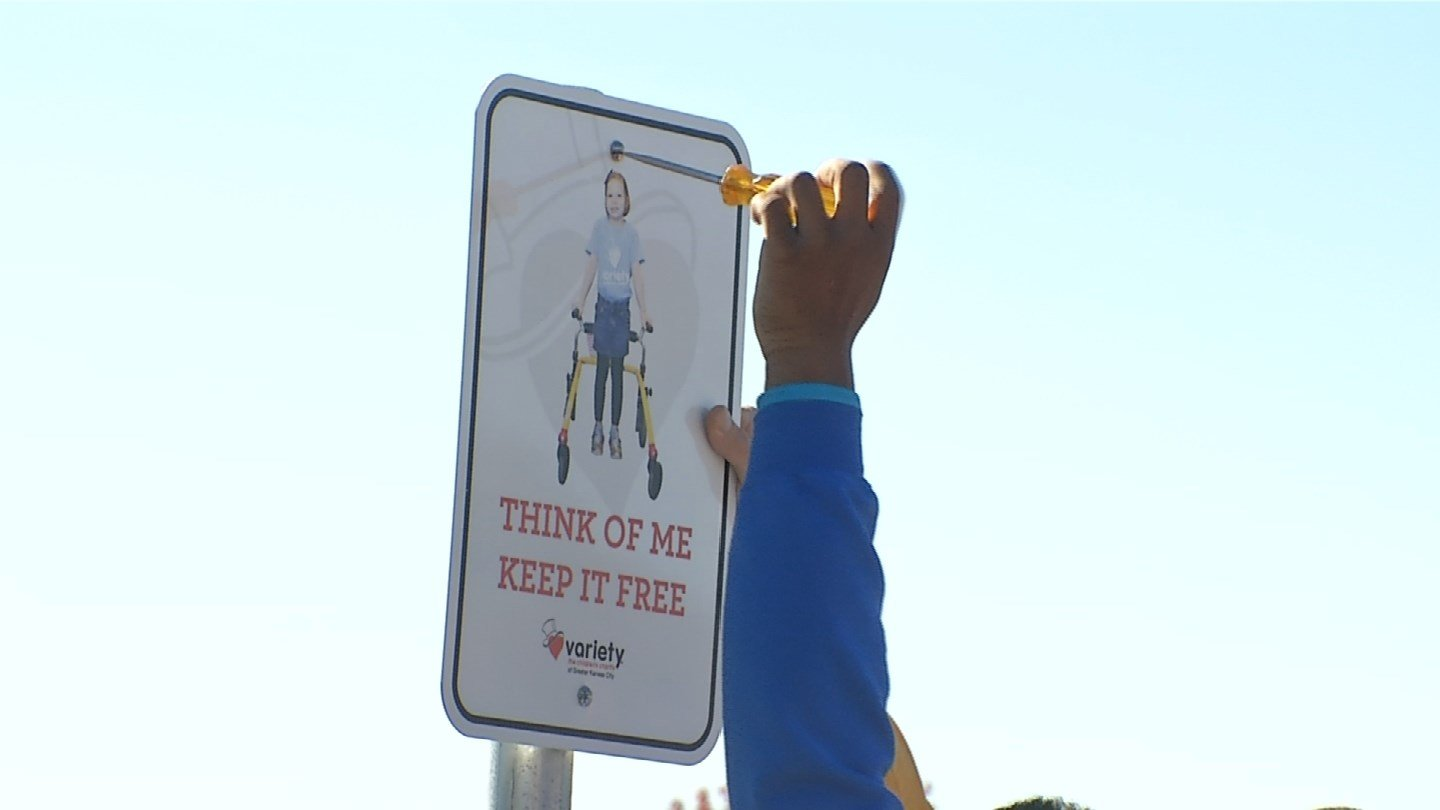 The Liberty School District is fed up after people keep parking in spots designed for people with disabilities. They've partnered with Variety Children's Charity to put a real face on the parking spots. (KCTV5)