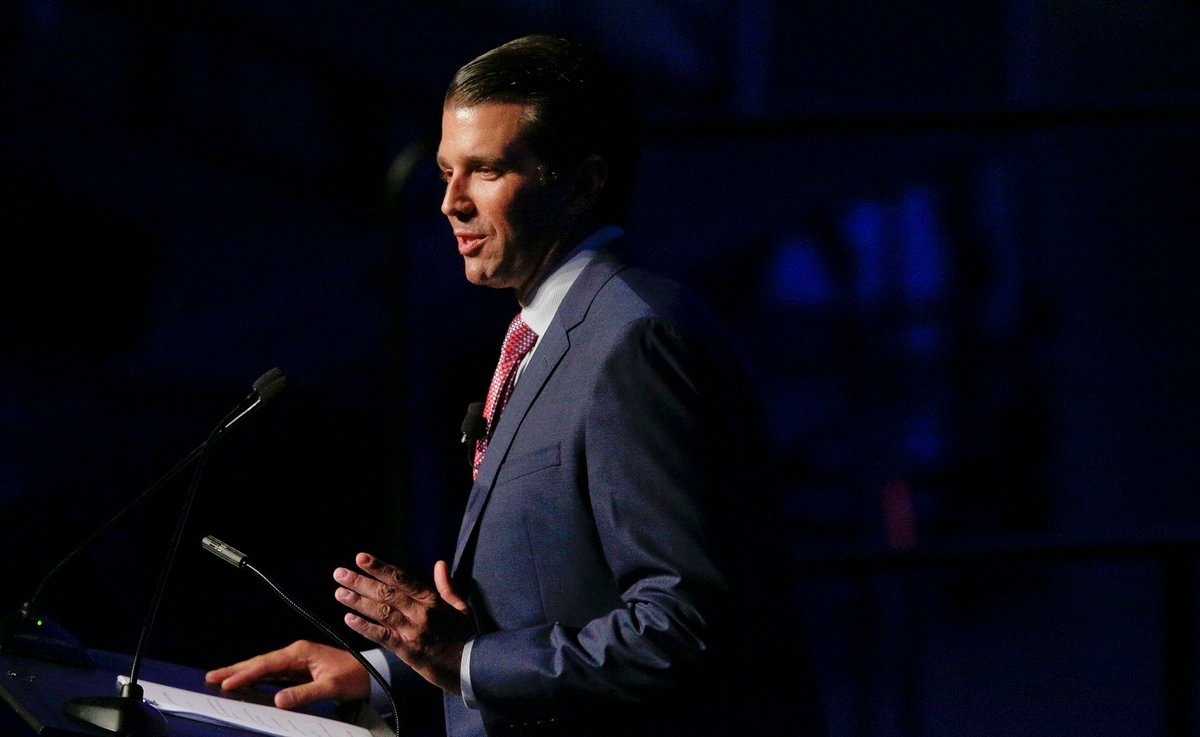 Kobach announced Monday that Donald Trump Jr. will be in Kansas on Nov. 28 for a campaign fundraiser. Kobach is vice chairman of the President's commission on election fraud. (AP)