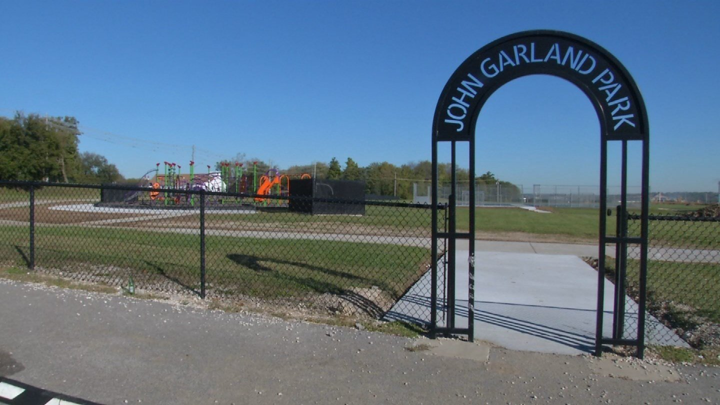 A new playground is up at John Garland Park, and that's alarming to some Kansas City, KS residents.  The park has a sordid past. (KCTV5)