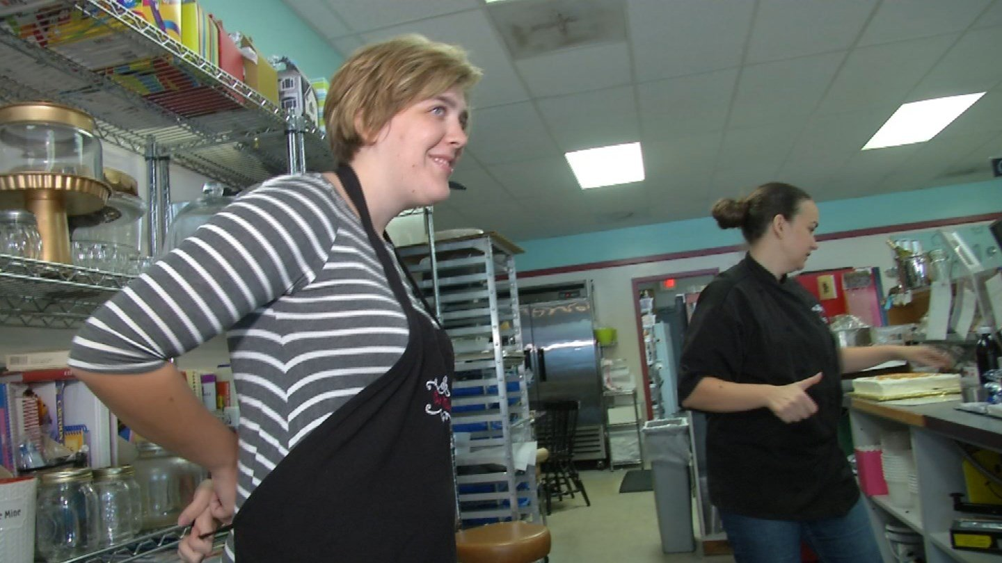 Megan Hensley, who has Fragile X Syndrome, graduated from Oak Park High School and now works at Aunt Mary's Cookies in North Kansas City. (KCTV5)