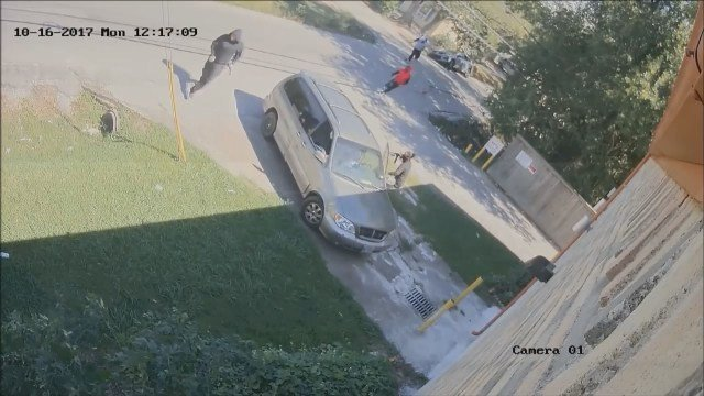 The Houston Police Department released dramatic surveillance video of three suspects still wanted in a fatal shooting and carjacking on the south side. (Houston Police Department)