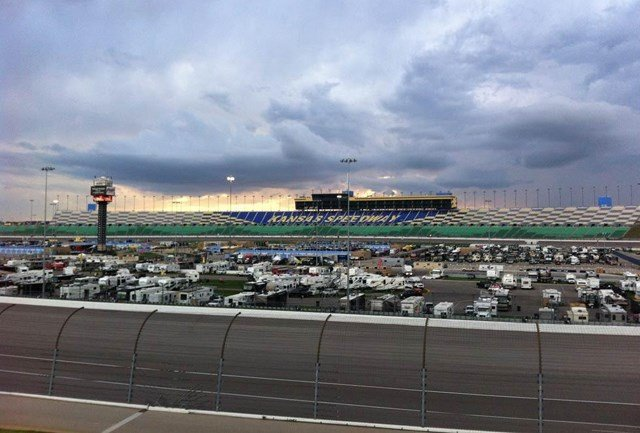 The forecast was dreary but that wouldn't stop fans from coming to watch Saturday's Kansas Lottery 300. (KCTV5)