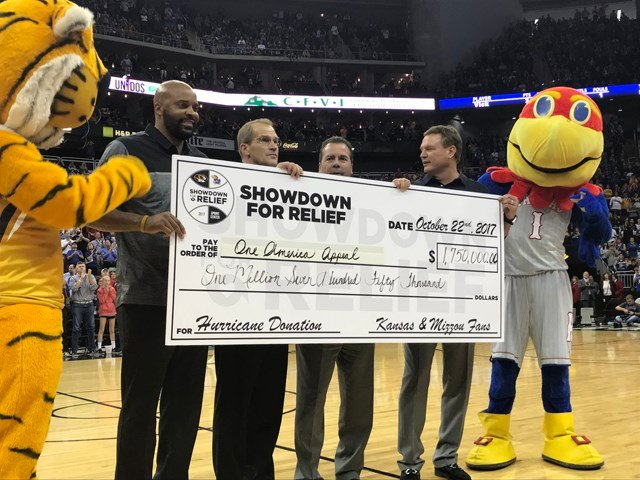 It's safe to assume they will be content in that department, as over $1.75 million was raised through a combination of ticket sales, text donations and purchases of the game's $40 pay-per-view stream. (KCTV5)