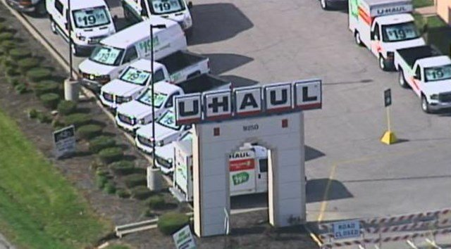 Officers were called about 6:45 p.m. Tuesday to U-Haul Moving & Storage of Lenexa located at 9250 Marshall Drive. (KCTV5)