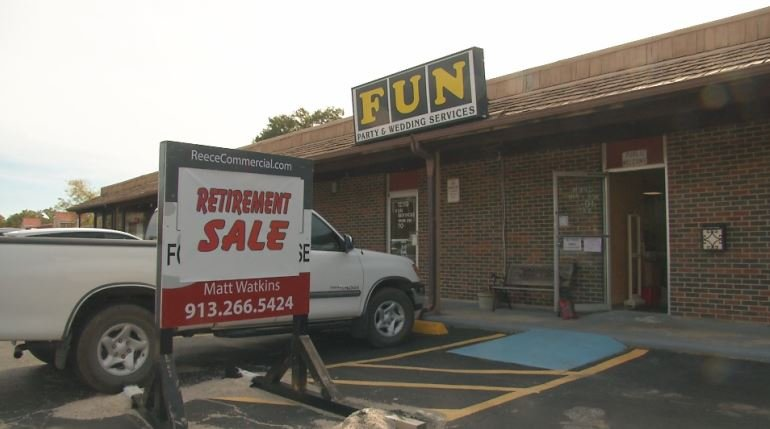 The Wilsons have run Fun Party and Wedding Services for 44 years and had a store in Shawnee for 38 years. (KCTV5)