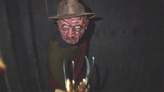 "The haunted 1930's movie theater is complete with real actors portraying realistic characters from the ""Saw"" movies to ""Freddy vs Jason"" and even ""The Mummy."" (KCTV5)"