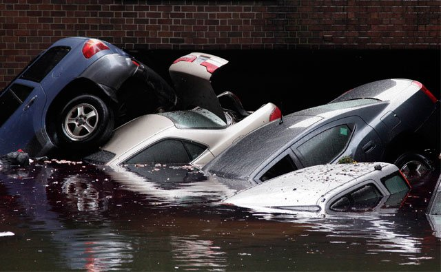 The attorney general for both Kansas and Missouri, along with federal investigators, are warning buyers about an unusually high number of flood-damaged cars on the market during the next two months. (AP)