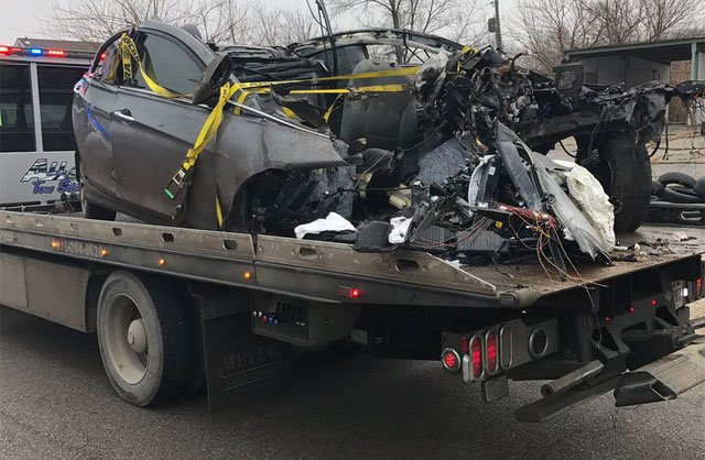 According to court records, Kansas City police responded to a wreckin the area of 73rd Street and Prospect Avenue in January. (KCPD)